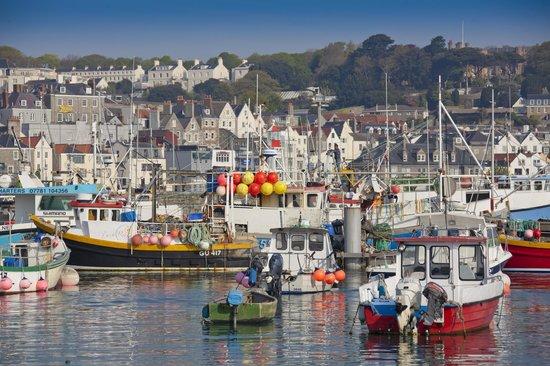 Guernsey, UK:                                     St Peter Port Harbour