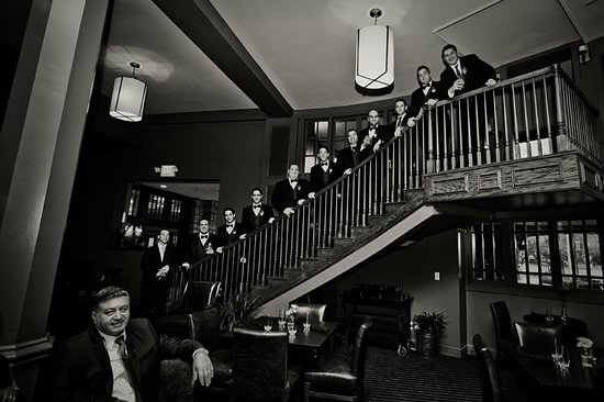The Elms Hotel and Spa:                                     Groomsmen before ceremony