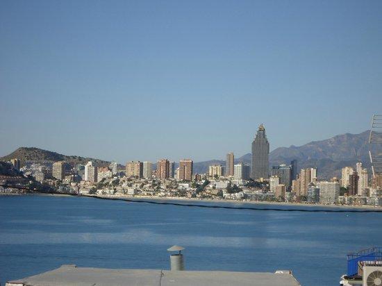 Hotel Centro Mar :                   vistas desde la azotea del hotel