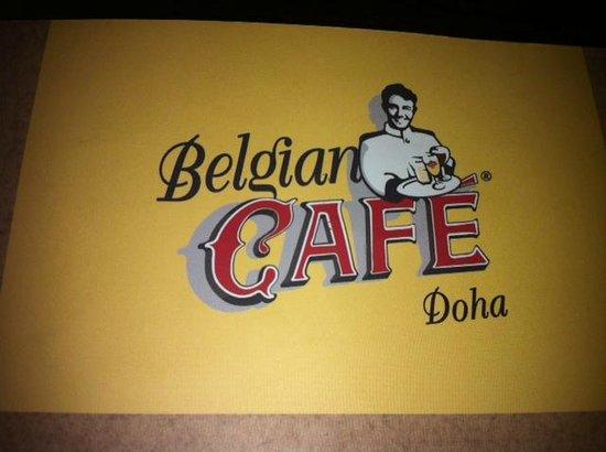 Doha Intercontinental - Belgian Cafe sign