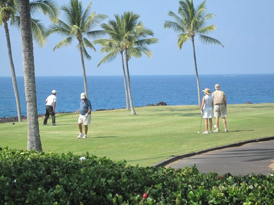Kanaloa at Kona:                   View of golf course from grounds