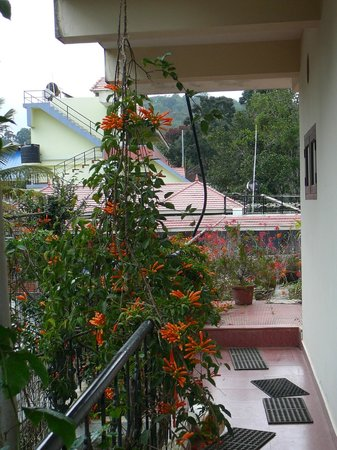 Green View Home Stay:                                     Balcon fleuri du guesthouse