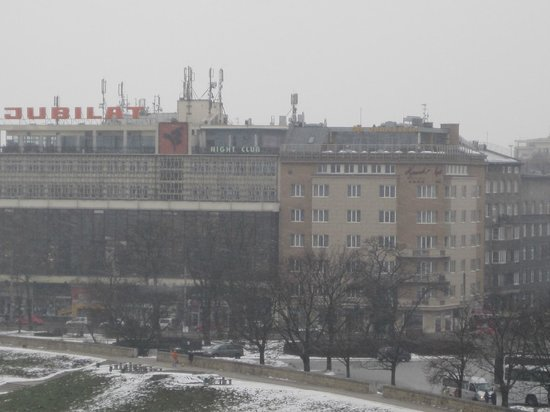 Kossak Hotel:                   View of the hotel from the Wawel Castle