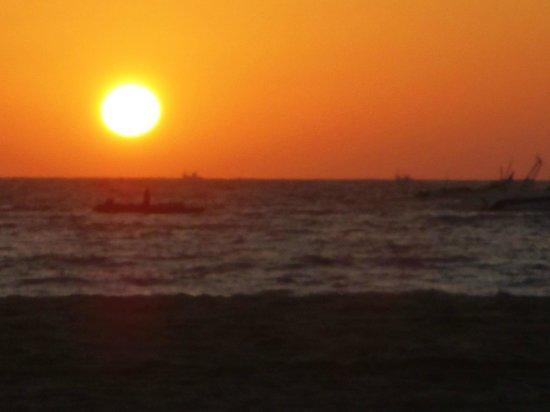 Colonia Santa Maria (CSM):                   Sunset on Baga beach