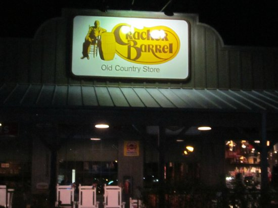 Cracker Barrel:                   Store sign in Santee
