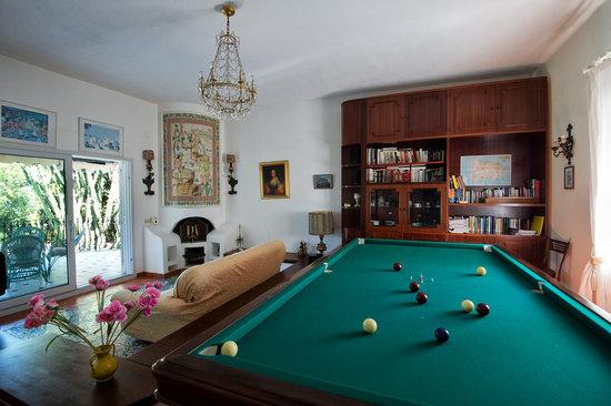 Villa Le Magnolie: sala biliardo