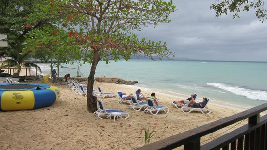 Royal Decameron Montego Beach:                   Small beach area on city side of resort