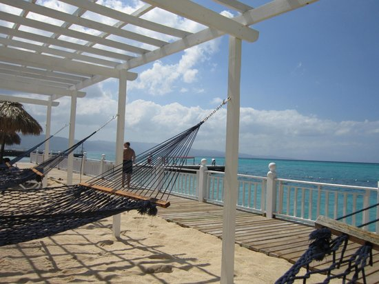 Royal Decameron Montego Beach:                   Hammock area on aiport side of resort