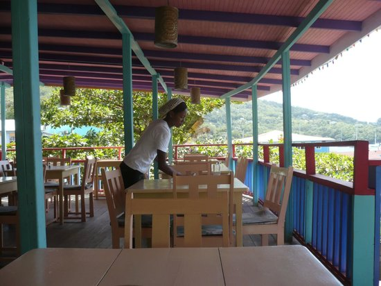 Local staff at Coco's Place, Port Elizabeth, Bequia