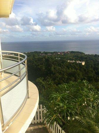 Residence Ilot Bleu:                   vue de la terrasse (F3 Aruba)