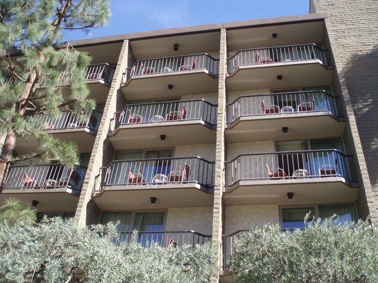 The Garland:                   Exterior balconies