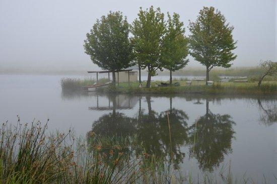 Moorcroft Manor:                   Lake on property