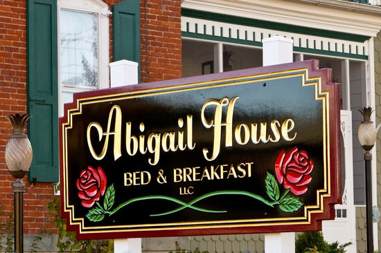 Abigail House Bed and Breakfast: Abigail Sign
