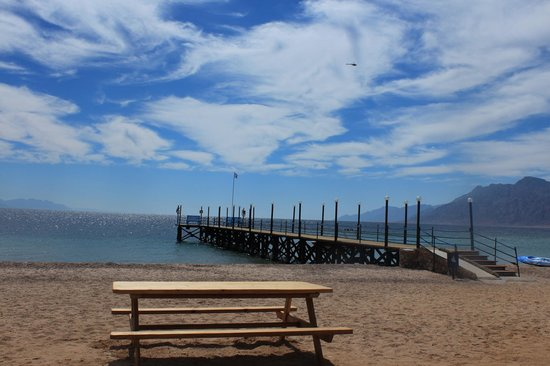 Nuweiba Coral Resort:                   الممشى على الشاطئ