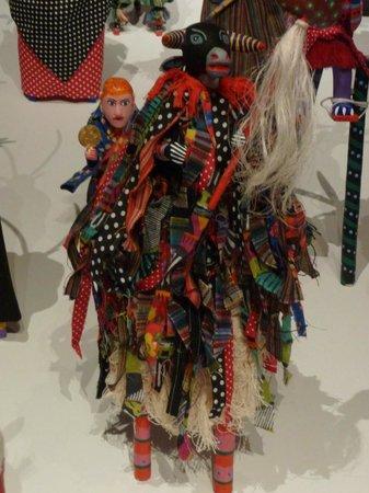 Museo Textil de Oaxaca:                   Costumed alebrijes on stilts