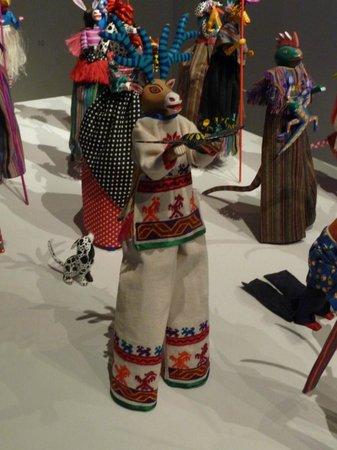 Museo Textil de Oaxaca:                   Alebrijes on stilts