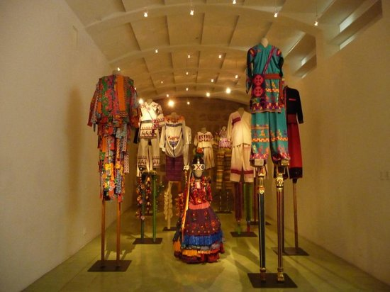 Museo Textil de Oaxaca:                   Full size Hand made stilts and trajes