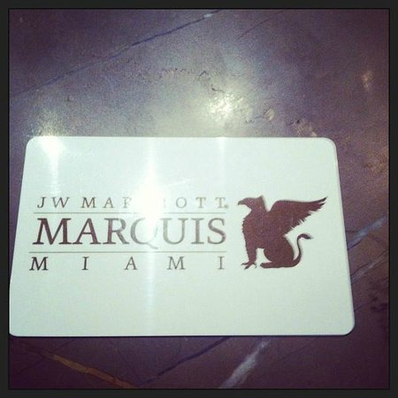 JW Marriott Marquis Miami:                   Room Key