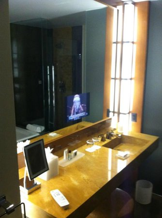 JW Marriott Marquis Miami:                   TV in the mirror