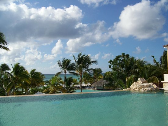 Sanctuary Cap Cana by AlSol :                   Upper pool area, infinity pool.