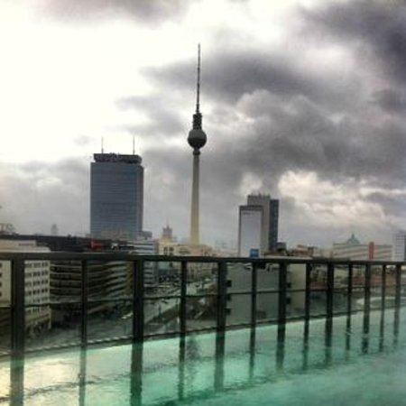 View from Soho House Berlin's rooftop.