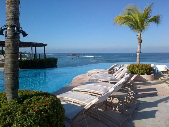 Four Seasons Resort Punta Mita:                   Main Pool view and lounge area