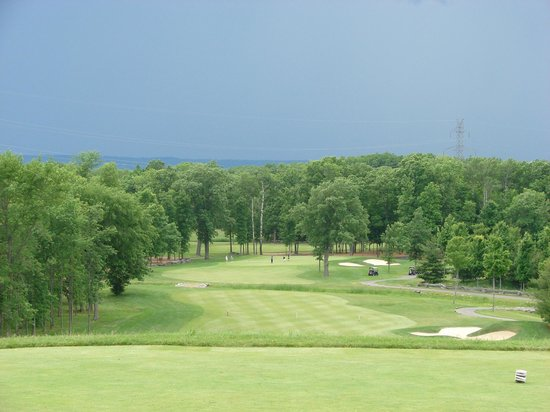 Black Bear Ridge Golf Club : Storms coming - looking down #1