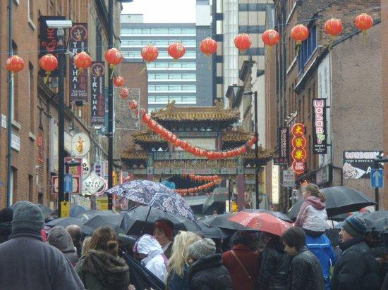 Rice:                                     Chinatown crowds