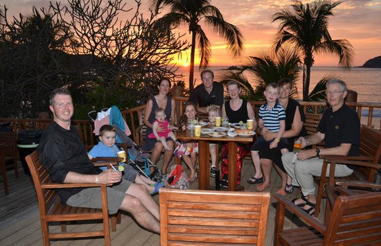 Club Med Ixtapa Pacific:                   Sunset on the terrace