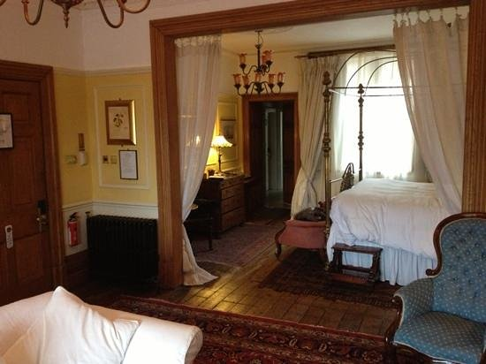 Osborne House:                   view from front room to bedroom. room door on left