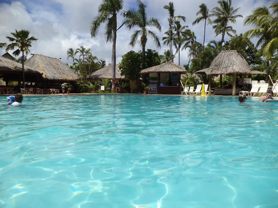 Outrigger Fiji Beach Resort:                   Pool and surrounding refreshment areas