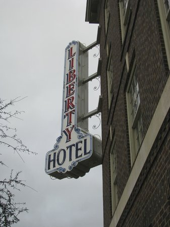 Liberty Hotel, an Ascend Collection hotel:                   Sign outside Building