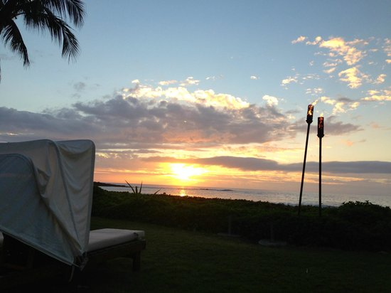 Mauna Kea Beach Hotel, Autograph Collection:                                     Overlooking the beach at sunset