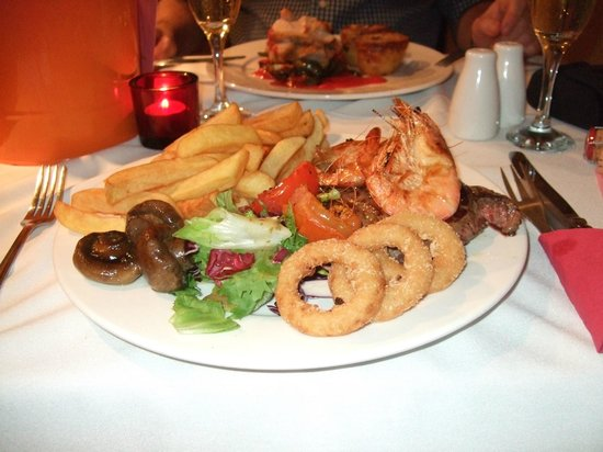 The Stag Inn:                   10oz surf and turf