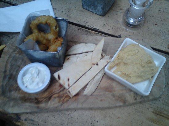 The Drop Forge: Calamari.  Hummus.