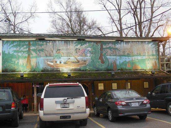 Boudreau & Thibodeau's Cajun Cooking:                   Boudreau-Thibodeau mural
