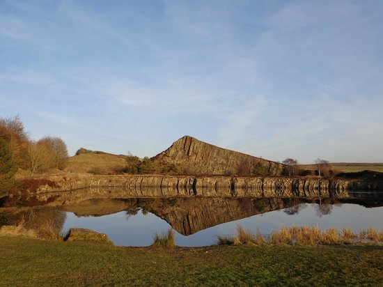 Hadrian's Wall:                   Cawfields car park and picnic area