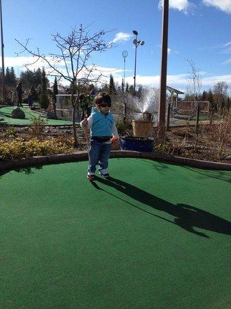 Hi-Knoll Driving Range & Mini-Golf :                                     Contemplating my next putt!