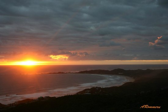 Brenton on Sea:                   Sunset from above the beach