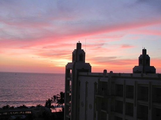 Hotel Riu Vallarta:                   sunset from our balcony