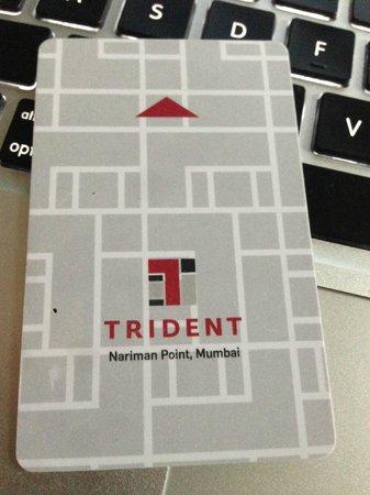 Trident, Nariman Point:                   room key                 