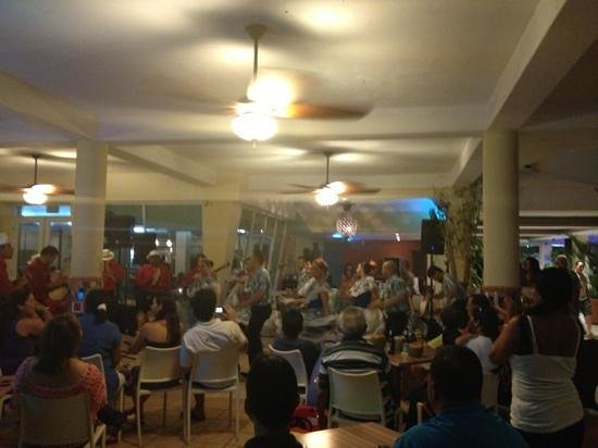 Villa Cofresi Hotel:                   Live Bomba and Plena dance show in hotel lobby