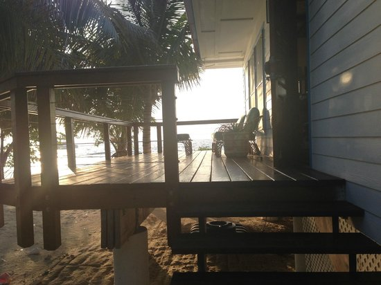 Hatchet Caye Resort:                   View from Room