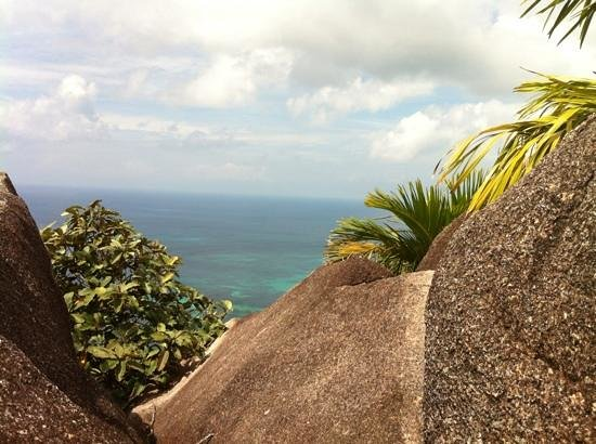 Coco de Mer - Black Parrot Suites:                   From top of Jean Baptiste Trail
