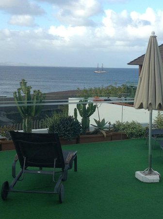 Hotel THe Volcan Lanzarote:                   Hows that  for a pool side view