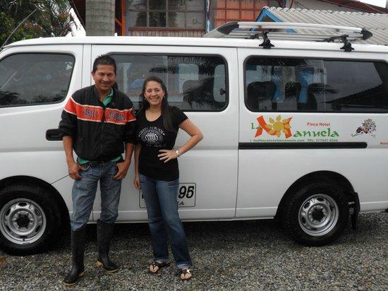 Finca Hotel La Manuela :                   Antonio, nuestro conductor. El mejor!!!