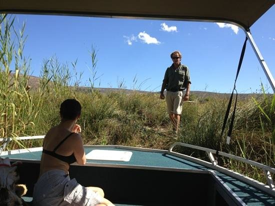 Sanbona Wildlife Reserve - Tilney Manor, Dwyka Tented Lodge, Gondwana Lodge:                   Bootsfahrt