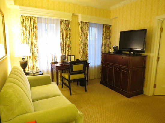 The Fairfax at Embassy Row, Washington D.C.:                   Grand Deluxe King Room-Sitting Area