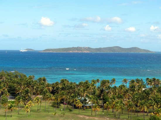 Palm Island Resort & Spa :                   Union island from Palm Island