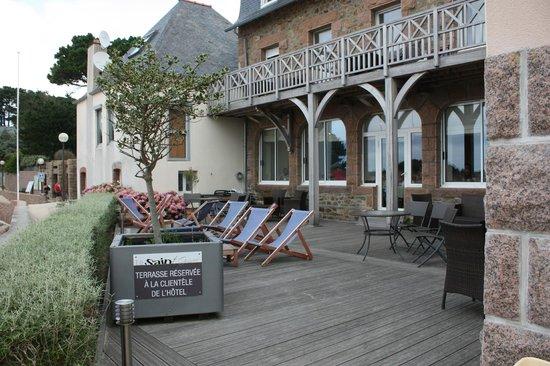 Hotel Saint Guirec et de la Plage : La terrasse